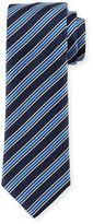 HUGO BOSS Rep-Striped Silk Tie, Navy
