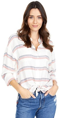 Hurley Wilson Stripe Long Sleeve (Sail) Women's Clothing