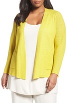 Eileen Fisher Plus Size Women's Organic Linen Open Front Cardigan