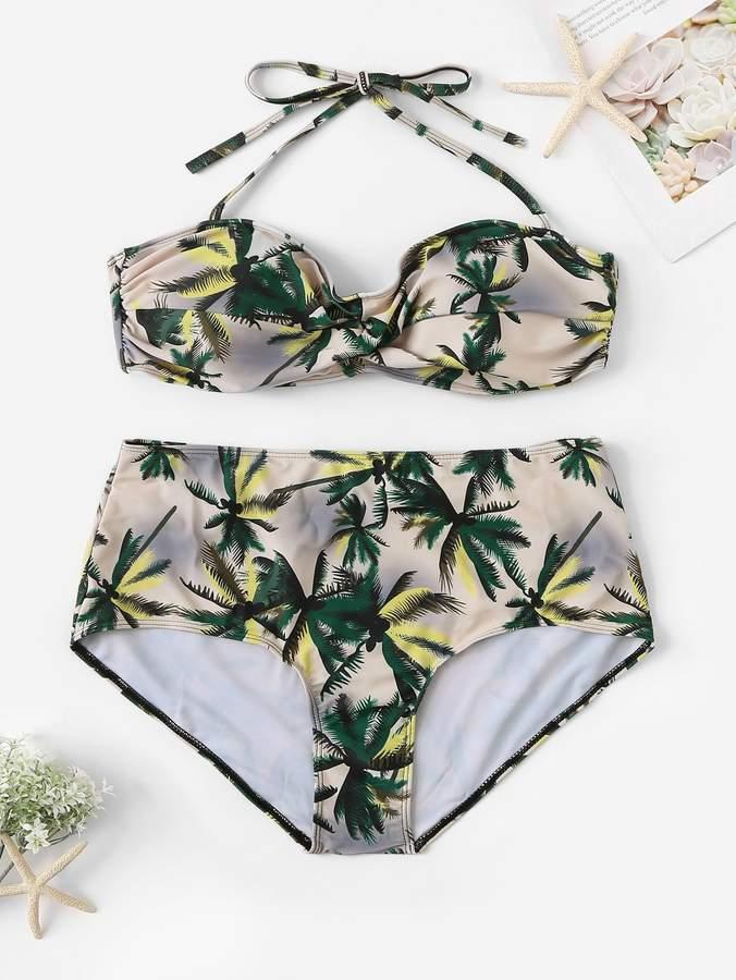 ab12de04da High Waisted Ruched Bikini - ShopStyle