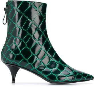 Amen reptile embossed pointed boots