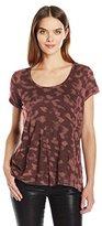 Calvin Klein Jeans Women's Short Sleeve Printed Split Back Crew Neck T-Shirt