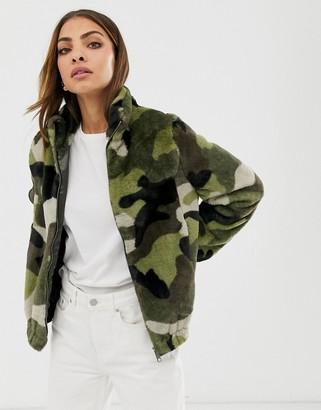 B.young camo fleece jacket