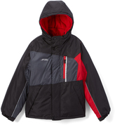 London Fog Black & Red Colorblock Puffer Coat - Boys