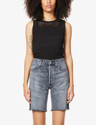 Citizens of Humanity Claudette slim high-rise organic-denim shorts