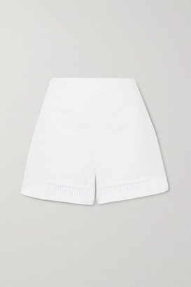 STAUD Moth Cutout Linen-blend Shorts