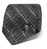 Alexander McQueen 6cm Silk-jacquard Tie - Black