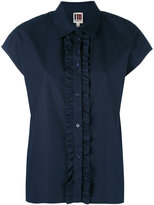 I'M Isola Marras ruffle front shirt - women - Cotton - 40
