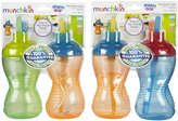 Munchkin Mighty Grip Flip Straw Cup - Unisex - 10 oz - 4 ct
