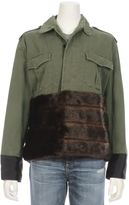 HARVEY FAIRCLOTH Field Jacket With Faux Fur Panel