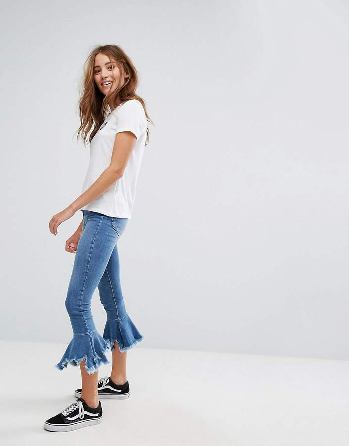 Pull&Bear Fray And Flare Jean
