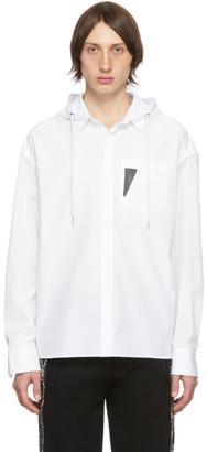 Neil Barrett White Hooded Shirt