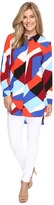 Vince Camuto Long Sleeve Marina Blocks Button Down Tunic