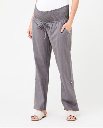 Ripe Maternity Women's Cropped Pants - Philly Cotton Pants - Size One Size, XS at The Iconic