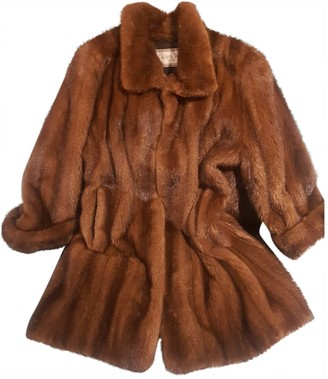 Giuliana Teso Brown Mink Coat for Women Vintage