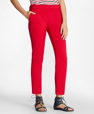 Brooks Brothers Double-Face Cotton-Blend Pants