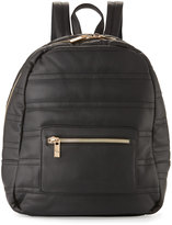 Neiman Marcus Classic Quilted Faux-Leather Backpack, Black