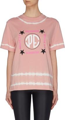 P.E Nation 'Co-driver' tie dye logo T-shirt