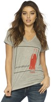 Peace Love World Unconditional Coca-Cola Mini Mimi V-Neck Tee