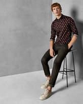CALEDON Geo floral print cotton shirt