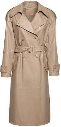 Drome Leather Trench Coat W/ Belt