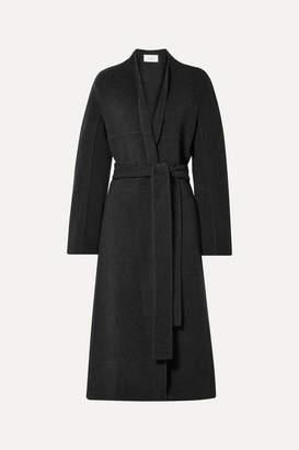 The Row Luisa Belted Wool-blend Coat - Black