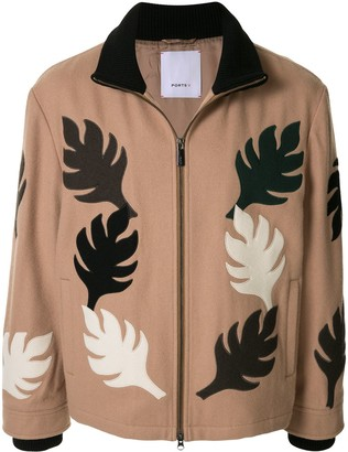 Ports V Leaf Motif Zipped Jacket