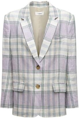 Etoile Isabel Marant Ilindae Check Linen Blazer