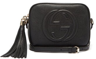 Gucci Soho Gg Small Leather Cross-body Bag - Womens - Black