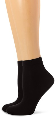 Dim Women's Style Tobilleros Opacos Ankle Socks Black (Negro 127) One (Size: 35/41) (Pack of 2)