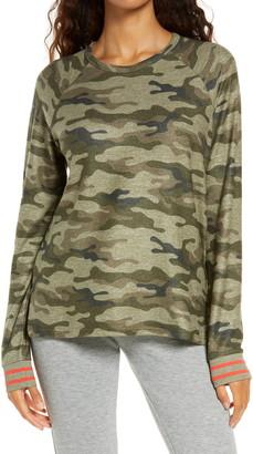 PJ Salvage Camo Raglan Sleeve Lounge Top