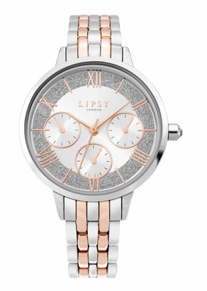 Lipsy Womens Analogue Classic Quartz Watch with Aluminium Strap LP635