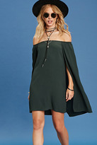 Forever 21 FOREVER 21+ Off-The-Shoulder Cape Dress