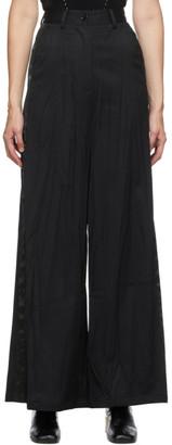 MM6 MAISON MARGIELA Black Wool Wrinkle Tuxedo Trousers
