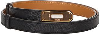 Hermes Black Epsom Leather Kelly Belt