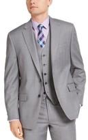 Michael Kors Men's Classic-Fit Airsoft Stretch Gray Sharkskin Suit Jacket