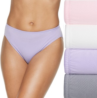 Fruit of the Loom Women's Signature 4-pack Breathable Hi-Cut Panty 4DSBBHC