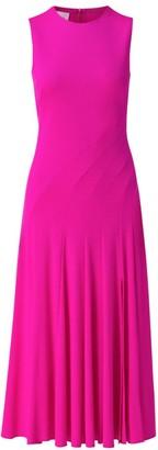 Akris Punto Diagonal Seamed Sleeveless Midi Dress
