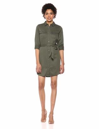 Daily Ritual Amazon Brand Women's Tencel Long-Sleeve Utility Dress