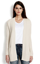 Lands' End Women's Lofty Long Open Cardigan Sweater-Flint Rock Jaspe
