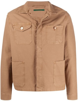 Hand Picked Front-Pocket Shirt Jacket