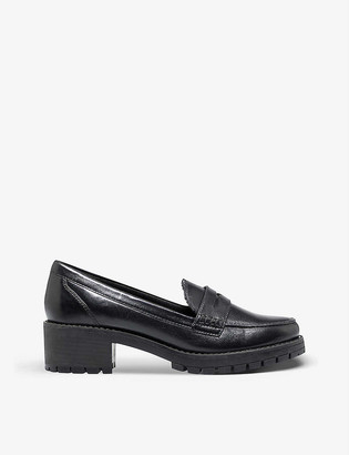 Dune Glints leather platform loafers