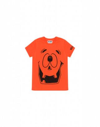 Moschino Pumpkin Face T-shirt Man Orange Size 4a It - (4y Us)