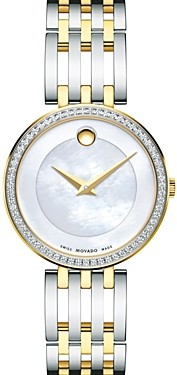 Movado Esperanza Diamond Bezel Two-Tone Watch, 28mm