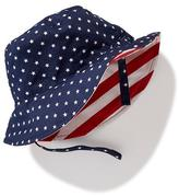 Old Navy 4th of July Reversible Canvas Bucket Hat for Baby