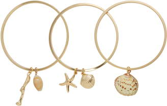 Ettika Set of 3 Shell Bangles