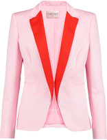 Vionnet Wool-trimmed cotton-blend faille blazer