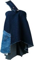 Natasha Zinko single shoulder denim blouse - women - Cotton - 42