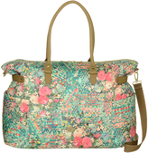 Oilily Mint Floral Weekender