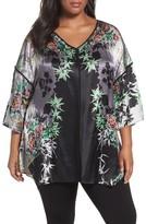 Citron Plus Size Women's Print Silk Tunic